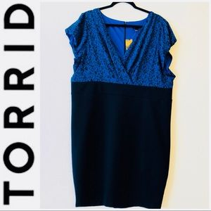 Torrid Blue & Black Retro Animal Print Dress 4